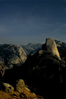 half dome moonlit