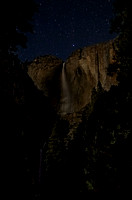 yosemite falls starry night